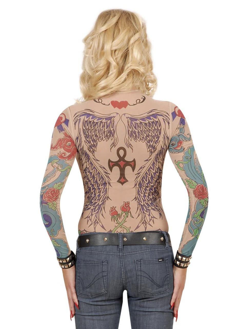 Koszulka Tatuaż Skrzydła Anioła Stroje Damskie Sklep Partybiz